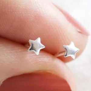 Teeny Tiny Sterling Silver Star Stud Earrings