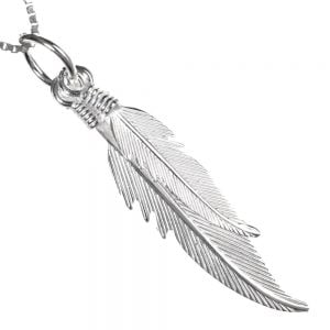 Sterling Silver Jewellery: Double Feather Pendants