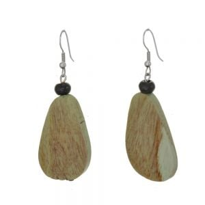 Lovely Fashion Jewellery: Mint Green Wooden Chunky Abstract Earrings (6cm x 2cm) (SB29)B)