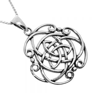 NEW Sterling Silver Jewellery: Large Oxidised Celtic Knot Pendant (N320)