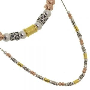 Beautiful mix gold and silver beads necklace