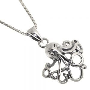 Under The Sea Theme Sterling Silver Jewellery: Quirky Octopus Pendant