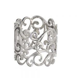 Chunky Statement Cage Ring with Beautiful Swirl Design
