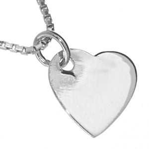 NEW Sterling Silver Jewellery: Simple Sideways Heart Pendant