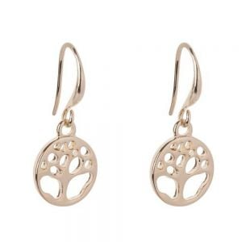 Simple Fashion Jewellery: Gold Tone Tree of Life Earrings (2.5cm Drops) (DX14)B)