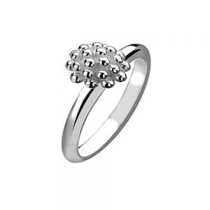 Twisted Sterling Silver Stacking Ring With Trachelium Flower