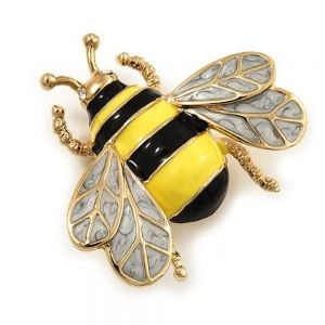 FB7742-X Designer Jewellery - Vintage gold Style Statement Bee Brooch