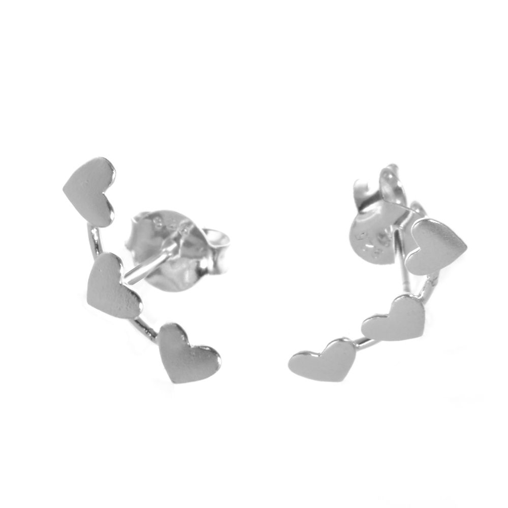 1d8753c28 925 sterling silver jewellery york fashion jewellery Sterling Silver  Jewellery: Branching Triple Heart Stud Earrings 925 Sterling silver  jewellery range of ...