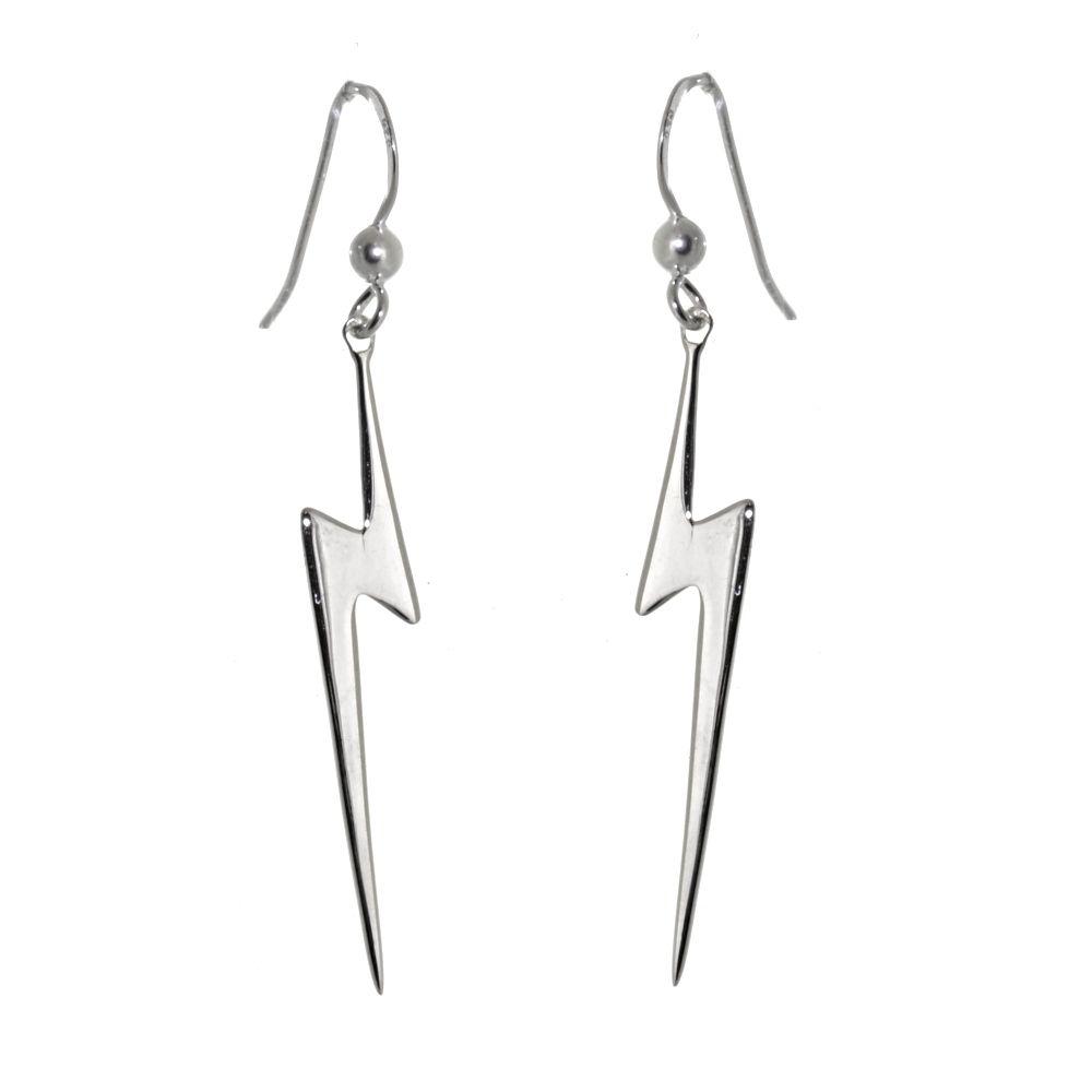 e6b827b59 925 sterling silver jewellery york fashion jewellery Contemporary Sterling  Silver Jewellery: Long Lightning Bolt Earrings 925 Sterling silver  jewellery ...