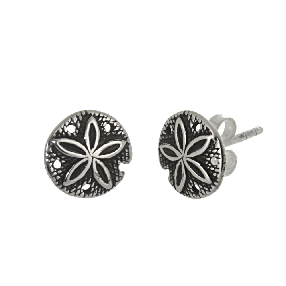 Tiny Sand Dollar Pendant in 925 Sterling Silver