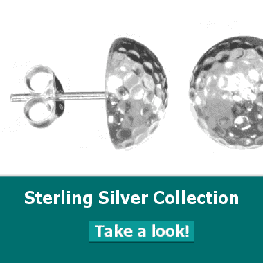 sterling silver jewellery york, floral necklace, stud and drop earrings