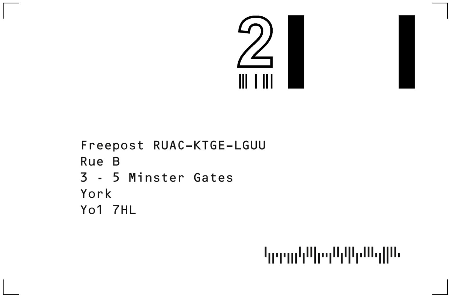rueb jewellers york freepost label