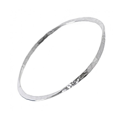 sterling silver hammered bangle